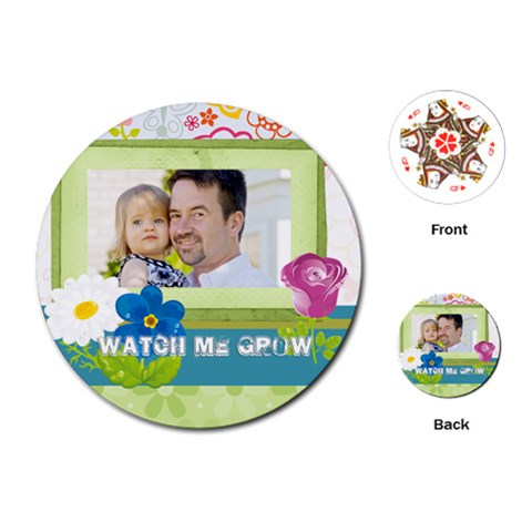 Kids, Father, Family, Fun By Jo Jo   Playing Cards (round)   Q9s8nad3lu6e   Www Artscow Com Front