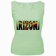 Arizona Womens  Tank Top (green) by worldbanners
