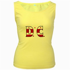 Dc Womens  Tank Top (Yellow) by worldbanners