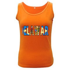 Delaware Womens  Tank Top (dark Colored) by worldbanners