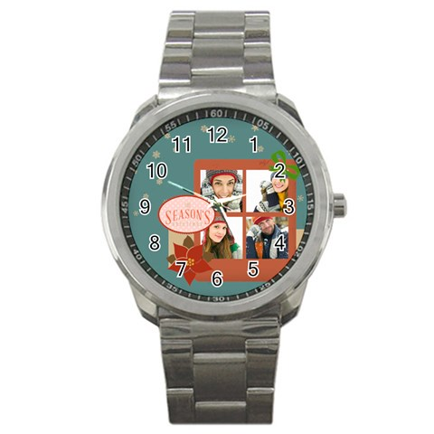 Christmas By Merry Christmas   Sport Metal Watch   Cjukp3va8nyz   Www Artscow Com Front