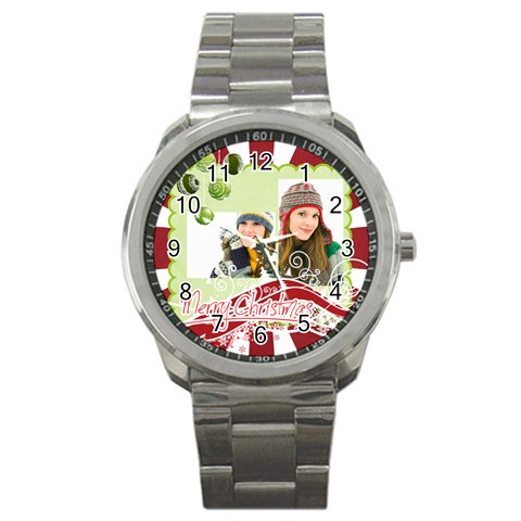 Christmas By Merry Christmas   Sport Metal Watch   86lyaqg4i33d   Www Artscow Com Front