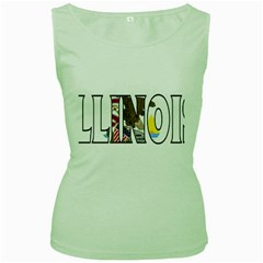 Illinois Womens  Tank Top (green) by worldbanners