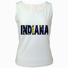 Indiana Womens  Tank Top (white) by worldbanners