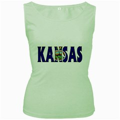 Kansas Womens  Tank Top (green) by worldbanners