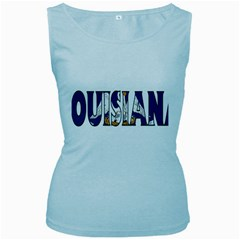 Louisiana Womens  Tank Top (baby Blue) by worldbanners