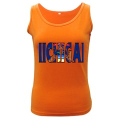 Michigan Womens  Tank Top (dark Colored) by worldbanners