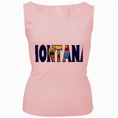 Montana Womens  Tank Top (pink) by worldbanners