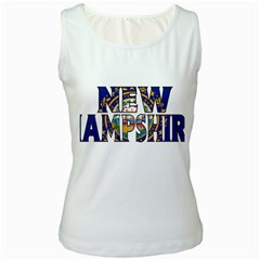 New Hampshire Womens  Tank Top (White) by worldbanners