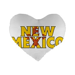 New Mexico 16  Premium Heart Shape Cushion  by worldbanners