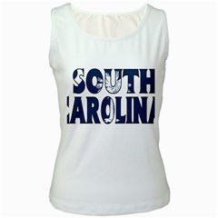 South Carolina Womens  Tank Top (White) by worldbanners