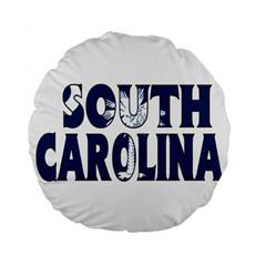 South Carolina 15  Premium Round Cushion  by worldbanners