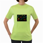 Contempt Womens  T-shirt (Green)
