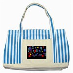 Contempt Blue Striped Tote Bag