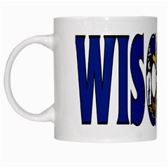 Wisconsin White Coffee Mug