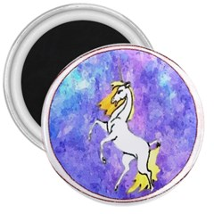 Framed Unicorn 3  Button Magnet by mysticalimages