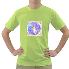 Framed Unicorn Mens  T Shirt (green) by mysticalimages