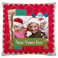 New Year By New Year   Large Cushion Case (two Sides)   G7boi3xlem9g   Www Artscow Com Front