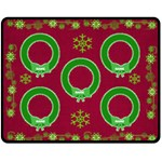 Green snowflake medium blanket - Fleece Blanket (Medium)