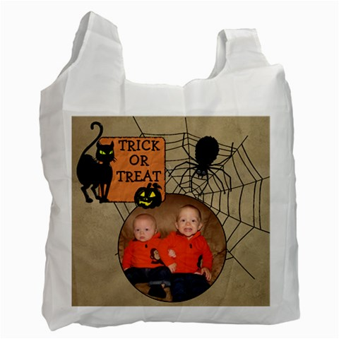 Trick Or Treat Bag By Lil    Recycle Bag (one Side)   Hl3homcrjmgd   Www Artscow Com Front