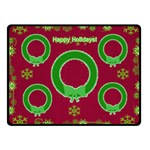 Happy Holidays small blanket - Fleece Blanket (Small)