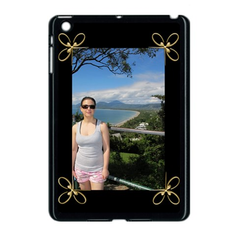 Black And Gold Apple Ipad Mini Case (black) By Deborah   Apple Ipad Mini Case (black)   Rkt2s7n0r67v   Www Artscow Com Front