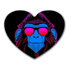 One Cool Gorilla Mouse Pad (Heart) by Contest1706705