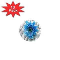 Blue 1  Mini Button Magnet (10 Pack) by Contest1650520