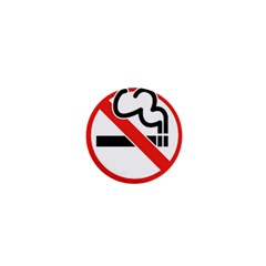 No Smoking 1  Mini Button Magnet