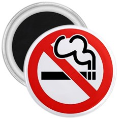 No Smoking 3  Button Magnet