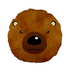 Bear By Divad Brown   Standard 15  Premium Round Cushion    Yk6csgodpqm7   Www Artscow Com Back