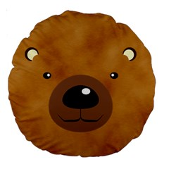 Bear By Divad Brown   Large 18  Premium Round Cushion    9jp3yb0l1gt4   Www Artscow Com Front