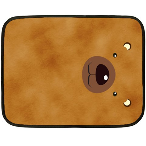 Bear By Divad Brown   Fleece Blanket (mini)   Yuqfbseuevjv   Www Artscow Com 35 x27 Blanket