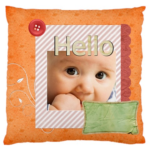 Baby By Joely   Large Cushion Case (one Side)   6f3ownlkkrwh   Www Artscow Com Front