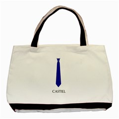 Castiel Twin Sided Black Tote Bag by LimeCrush