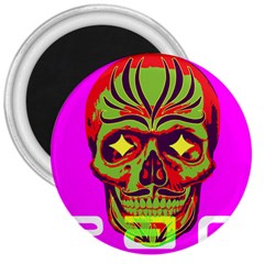 Rockskulls! 3  Button Magnet by Contest1703413