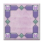 Lace and butterfly tile - Tile Coaster