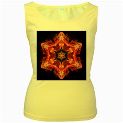 Smoke Art 1 Womens  Tank Top (yellow)