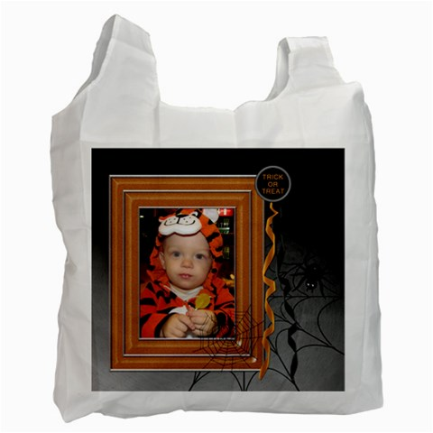 Trick Or Treat Halloween Bag By Lil    Recycle Bag (one Side)   512fae5jbcdj   Www Artscow Com Front