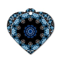 Smoke Art 2 Dog Tag Heart (one Sided)  by smokeart
