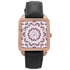 Abstract Smoke  (4) Rose Gold Leather Watch