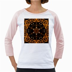Smoke Art (13) Womens  Long Sleeve Raglan T Shirt (white)