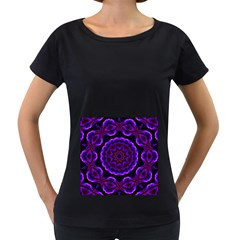 (16) Womens' Maternity T Shirt (black) by smokeart