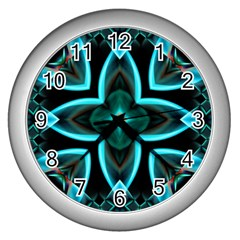 Smoke Art (21) Wall Clock (silver) by smokeart