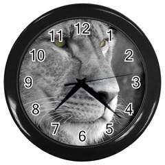 Lion 1 Wall Clock (black) by smokeart