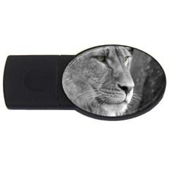 Lion 1 2gb Usb Flash Drive (oval) by smokeart