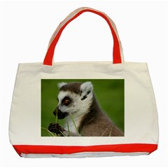 Ring Tailed Lemur  2 Classic Tote Bag (red) by smokeart