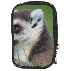 Ring Tailed Lemur  2 Compact Camera Leather Case by smokeart