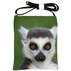 Ring Tailed Lemur Shoulder Sling Bag by smokeart