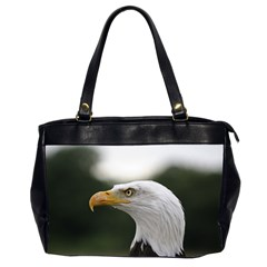 Bald Eagle (1) Oversize Office Handbag (two Sides) by smokeart